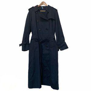 Vintage Burberry Navy Trench Coat